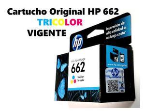 Cartucho Hp 662 Color Original Tricolor Vigente