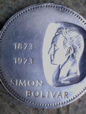 Moneda De Plata 10 Bs Doblon Simon Bolivar