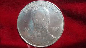 Moneda De Plata Ley 900 Antonio Jose De Sucre 75bs.
