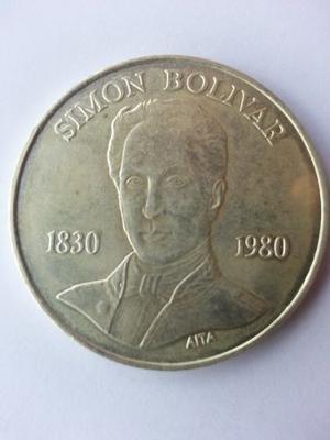 Moneda Sesquicentenario Muerte Libertador Simón Bolívar