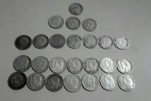 Monedas De Plata Bs 0.25
