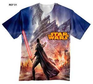 Franelas De Niño De Star Wars Sublimadas