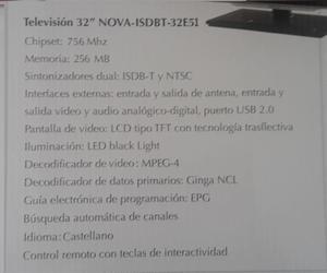 Televisor De 32 Pulgadas, Nuevo En Su Caja, Leer Descripcion
