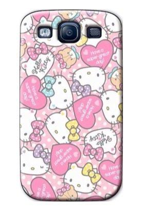 Forros Samsung Galaxy S3 S4 S5 S6 S7 Edge Kitty Animal Print