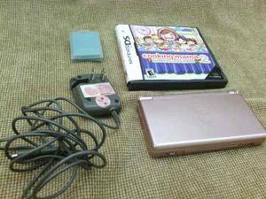 Nintendo Ds Lite Rosado Con R4, 03 Juegos Y Cargador.