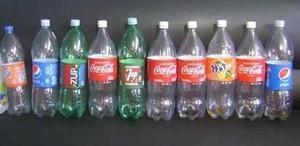 10 Botellas Plásticas Refrescos (litro Y Medio Y Dos