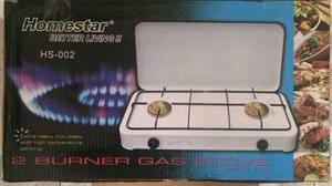Cocina A Gas 2 Hornillas Con Tapa Homestar