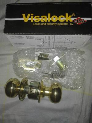 Cerradura Pomo Metal Visalock