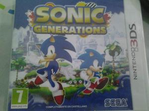 Videojuego De Sonic Generations Para 3ds Version Pal Europea