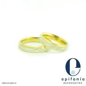 Aro Anillos De Matrimonio Compromiso Acero