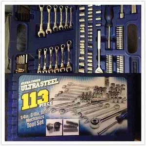 Juego De Rachet Ultra Steel Nuevo 113 Piezas