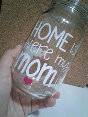 Mason Jar Vasos De Vidrios Personalizados Regalo Para Novios