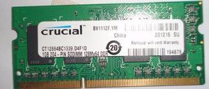 Memoria Ram Ddr3 1gb Crucial