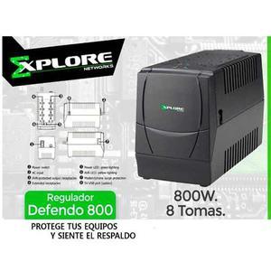 Regulador De Voltaje Explore 8 Tomas 300w 600va Avr800