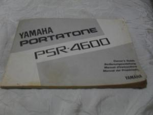 Manual Del Propietario Yamaha Portatone Psr-
