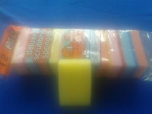Esponjas De Fregar 12 Unidades Deluxe Scrubbing Sponges Ofer
