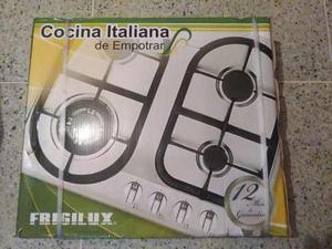 Tope De Cocina 4 Hornillas A Gas Frigilux Italiana