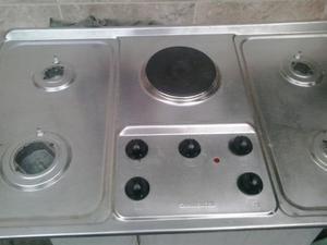 Tope De Cocina 5 Hornillas 4 A Gas Y Una Electrica