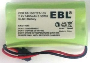Batería Teléfonos Inalambricos Uniden Mod: Bt- Bt-105