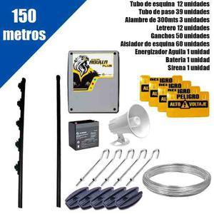 Cerco Electrico Kit De 150mts Con Energizador Listo Para Ins