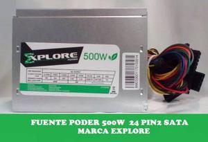 Fuente Poder 500w 24pines 2sata Cablepw Explore(nueva)