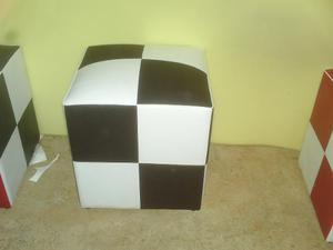 Muebles Tipo Puff Semicuero