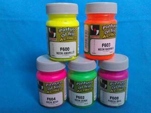 Pinturas Al Frio Color Neon 60 Ml