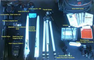 Camara Reflex Sony Alpha 350 + Kit Fotografico
