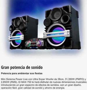 Equipo De Sonido Panasonic Sa-max750