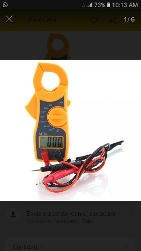 Pinza Amperimetrica Multimetro Digital Tester Mt87