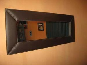 Espejo Decorativo Tapizado De Lujo Para Sala Cuarto Oficina