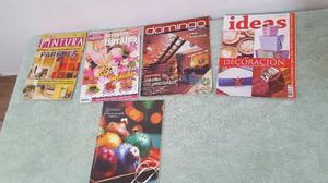 Revistas De Decoración (4) Y Arreglos Florales (1)