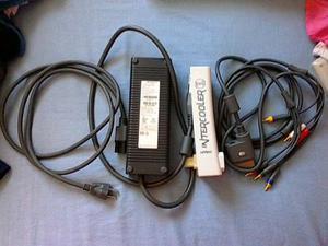 Fuente De Poder, Cable De Video Y Intercooler Xbox 360 Fat