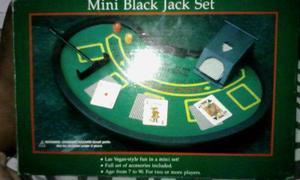 Juego De Mesa Mini Black Jack Set Cartas