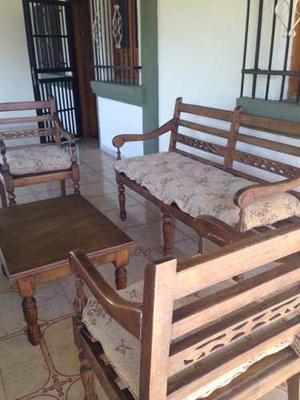 Juego De Muebles En Madera Para Jardin O Porche