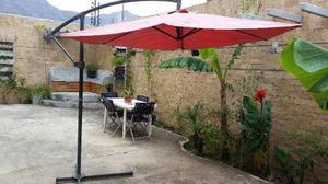 Sombrilla De Lujo Para Jardin O Patio Estructura Metálica