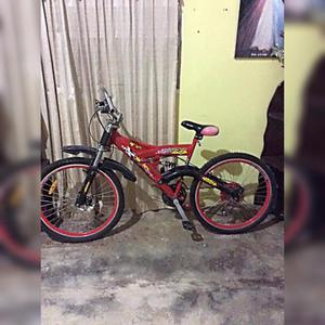 Bicicleta tuff gear roja