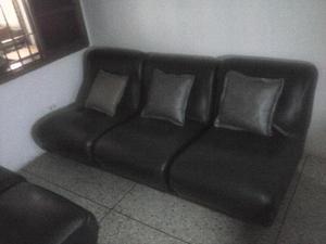 Muebles tipo modular de cuero con cojines