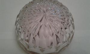 Cenicero de cristal con borde dorado