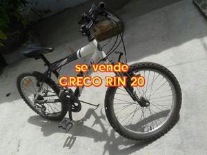 BICICLETA MARCA GRECO RIN 20. UNA SEMANA D USO...