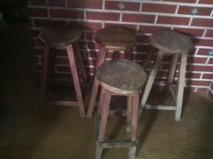 banquitos de madera