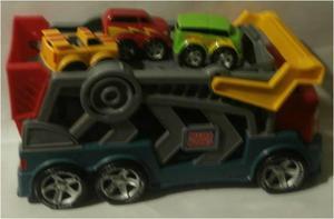 Megabloks Tiny 'N Tuff Race 'N Go Rig CAMION transporta