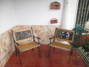 Hermoso juego de sillas para jardin en Hierro Forjado