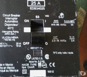 Vendo Breakers Trifasico 25A