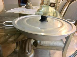 Paellera Antiadherente (Teflón) de Aluminio con Tapa