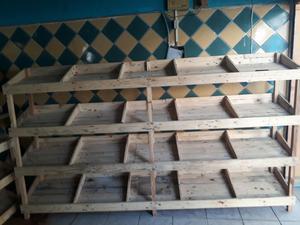 Vendo Juego de Estantes en Madera