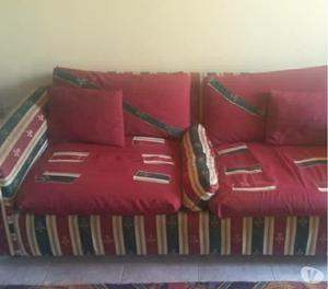 Juego de Muebles con mes central y sofá cama