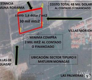 SE VENDE TERRENO EN EL SECTOR TIPURO II 2000 mts cuadrados