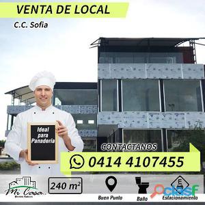 Venta de Local en CC Sofía, especial para panadería