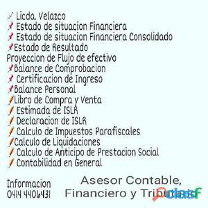 ASESOR CONTABLE, FINANCIERO Y TRIBUTARIO